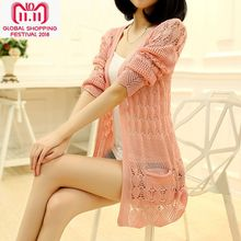 Jin Ru 2017 new spring coat dress in Korean long loose knit cardigan sweater the of and Autumn