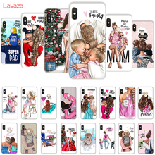 Lavaza Brown Hair Baby Mom Girl Queen Hard Case for