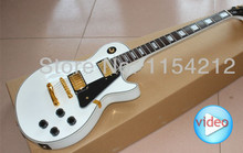 Free shipping—New arrival Vicers Pearl white color G-Custom LP Electric Guitar