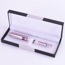 Купить Поршень высокого прозрачный перьевая ручка Classic Розовый 0.5 0.38 Iraurita каллиграфия чернила розового золота клип Роскошные офисные school1G806
