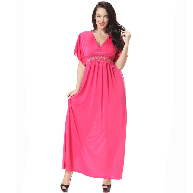 Aliexpress Buy Summer Pink Long Dress Dressses Vintage Plus