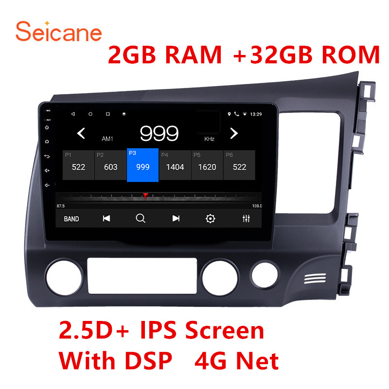 Seicane 2GBRAM Car Radio Multimedia Video Player Navigation GPS For HONDA CIVIC 2006 2007 2008 2009-2011 Right Hand Drive 2 din