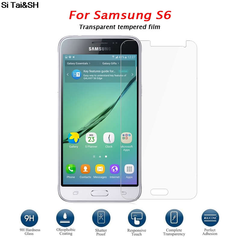 Si Tai&SH 9 H Tempered Glass Transparent Screen Protector for Samsung Galaxy S6 G9200 S 6 Protective Film for Glass Guard