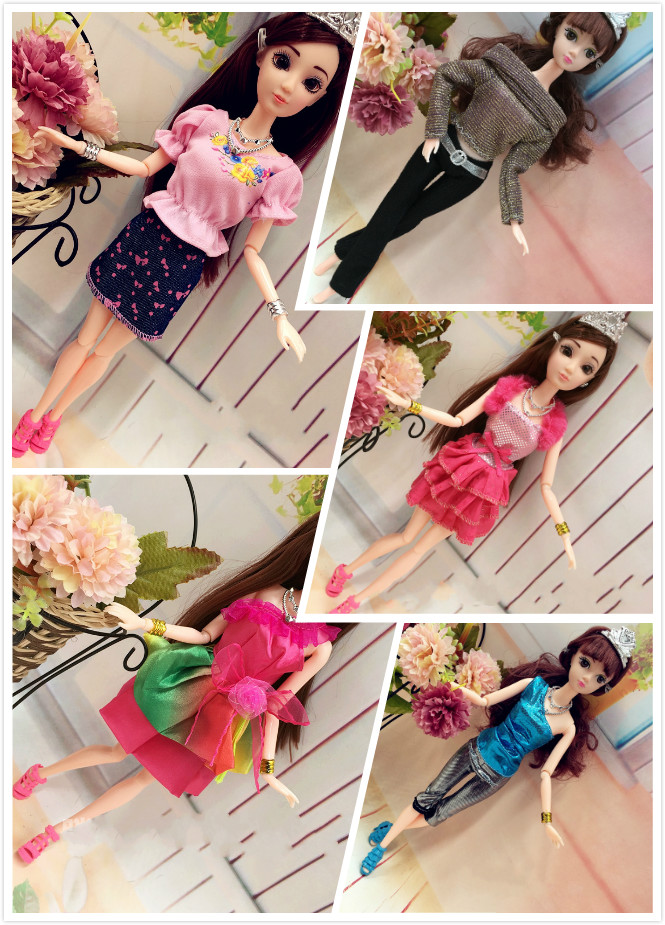 2016 New10pcs/lot Lovely Handmade Social gathering Garments go well with for Barbie Doll Vogue Gown 1/6