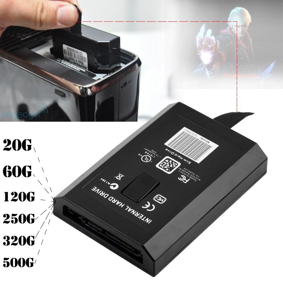 20 GB/60/120/250 GB/320 GB/500 GB HDD Disco Duro controlador para Xbox 360 Slim/Xbox 360E consola/XBOX360 S