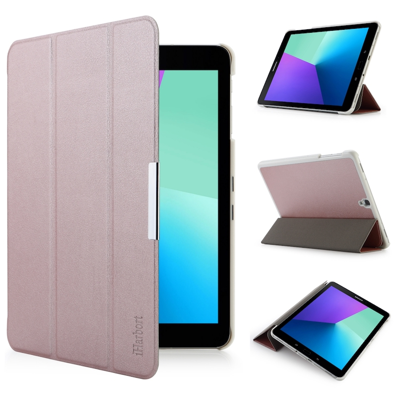 Stand Case for Samsung Galaxy Tab S3 9.7, SM-T820 /T825, iHarbort Protective Smart PU Leather Case Cover For Samsung Tab S3 9.7