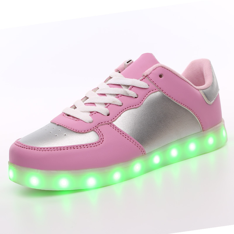 35-40 Shoes Led Schoenen Femme Chaussures Lumineuse For Adults Unisex Casual Lovers Homme 2018 Basket Light Up Led Shoes Mens