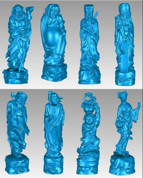 New 3D models CNC 3d Print relief in STL file format Eight god of longevity martyrs faith hope and love and their mother sophia 3d model relief figure stl format religion for cnc in stl file format
