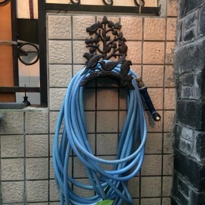 벽 마운트 주철 정원 호스 행거 랙 조류 장식 및 트리 분기 디자인-에서후크 & 레일부터 홈 & 가든 의  그룹 1