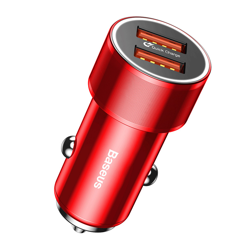 Ocamo Motorcycle ATV Conversion 2 Single Red Light Switch 3.4A Car Charger with 1pc 49 Patterns Sticker