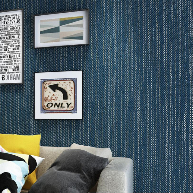 Wohnzimmer Restaurant Beibehang Moderne Klar Dunklen Blaue Tapete