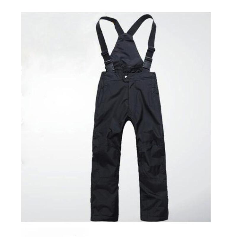 High quality outdoor winter children's ski pants windproof waterproof thick warm black men and women ski pants XS-XXXL