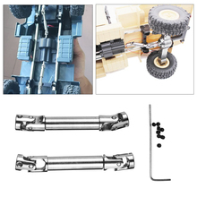 For WPL HengLong 1/16 Military Truck RC Crawler 2Pcs Upgrade Metal Driving Shaft Silver Screw Remote Control Toy Replacement