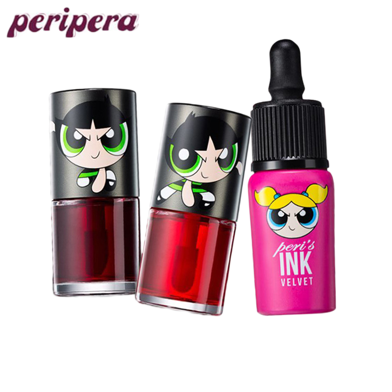 PERIPERA Ink The Velvet The Powerpuff Girls Limited Liquid Lip Gloss Long Lasting Waterproof Lipstick Moisturizing Lip TintPERIPERA Ink The Velvet The Powerpuff Girls Limited Liquid Lip Gloss Long Lasting Waterproof Lipstick Moisturizing Lip Tint