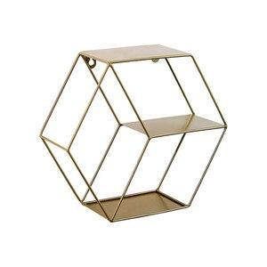 Image 1 - 3 Colors Wall Mounted Metal Rack Circular Mesh Iron Shelf Euro Style Round Shelf Office Sundries Organizer Home Decor