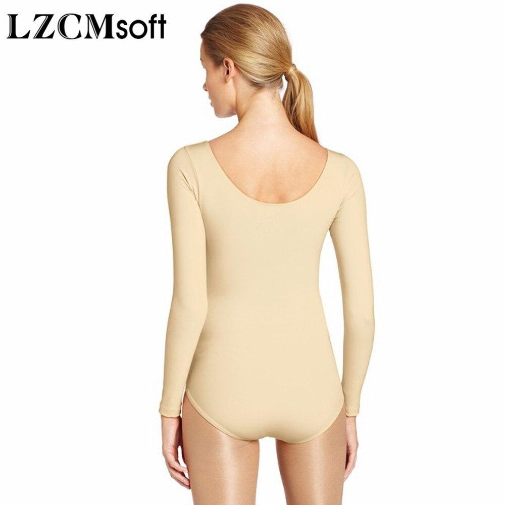 Image 5 - LZCMsoft Women Spandex Lycra Long Sleeve Leotard For Dance Adult Royal Blue Scoop Neck Gymnastics Leotards Ballet Jumpsuit Class-in Ballet from Novelty & Special Use