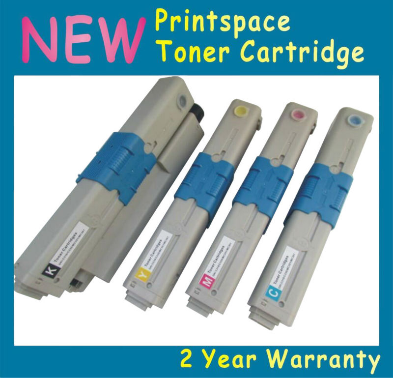 ФОТО 4x NEW Compatible High Capacity Toner Cartridges For OKI C530 MC561 MC562 MC890 MC950 44469802 44469721 KCMY Free Shipping