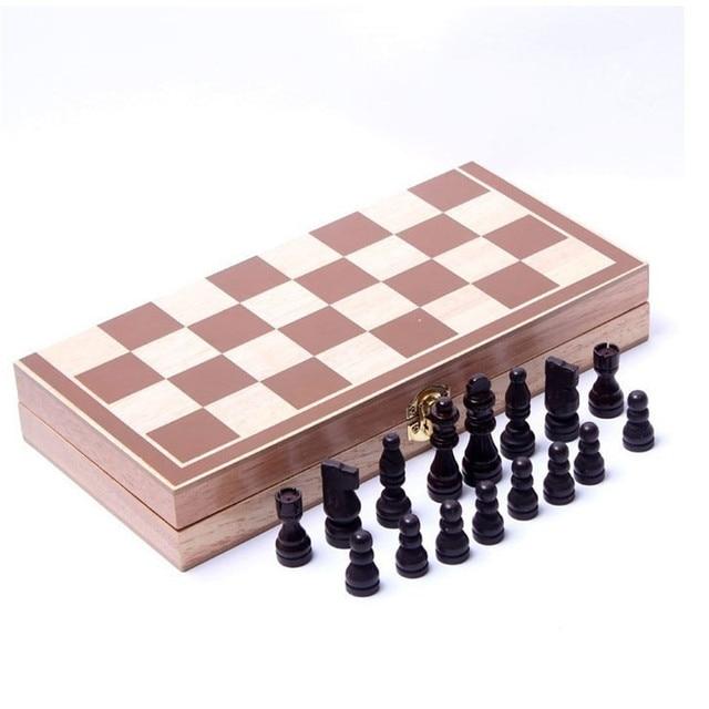 Jeu d'échecs pliable en bois avec Collection de pièces 2