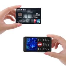 MAFAM M18 Мини карта телефон ультра-тонкий ударопрочный с fm-радио Mp3 Mp4 Bluetooth циферблат русская клавиатура одна SIM сотовый телефон