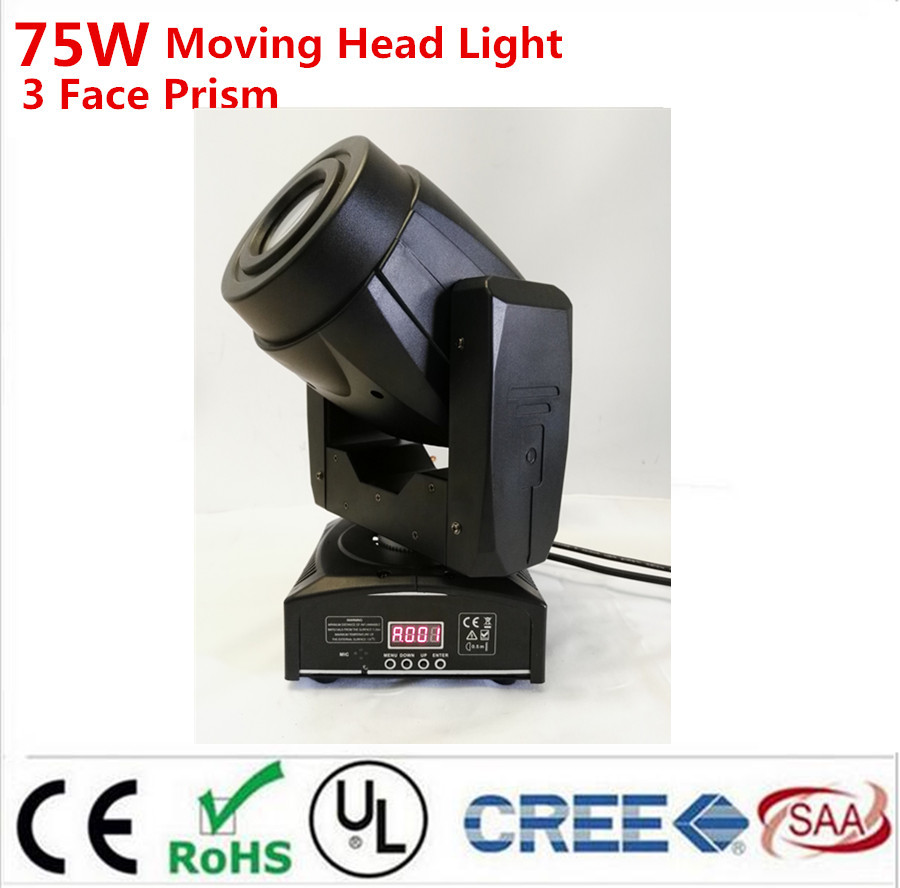 6X HOT 75W LED Moving Head 3 Face PrisSpot Stage Lighting DMX Channel Hi-Quality Hot Sales Prism Led Moving Light New Design