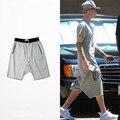 Джастин Бибер Короткие Штаны Летняя Мода Короткие Штаны Jogger Брюки Креста Страх Божий Свободные Колен Брюки