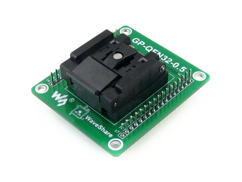 GP-QFN32-0.5-A Enplas IC Test Socket & Programming Adapter for QFN32 MLF32 Package 0.5mm Pitch Compatible with 2.54mm Breadboard gp qfn32 0 5 a qfn32 mlf32 adapter enplas ic test socket programming adapter 0 5mm pitch qfn 32 40 b 0 5 02