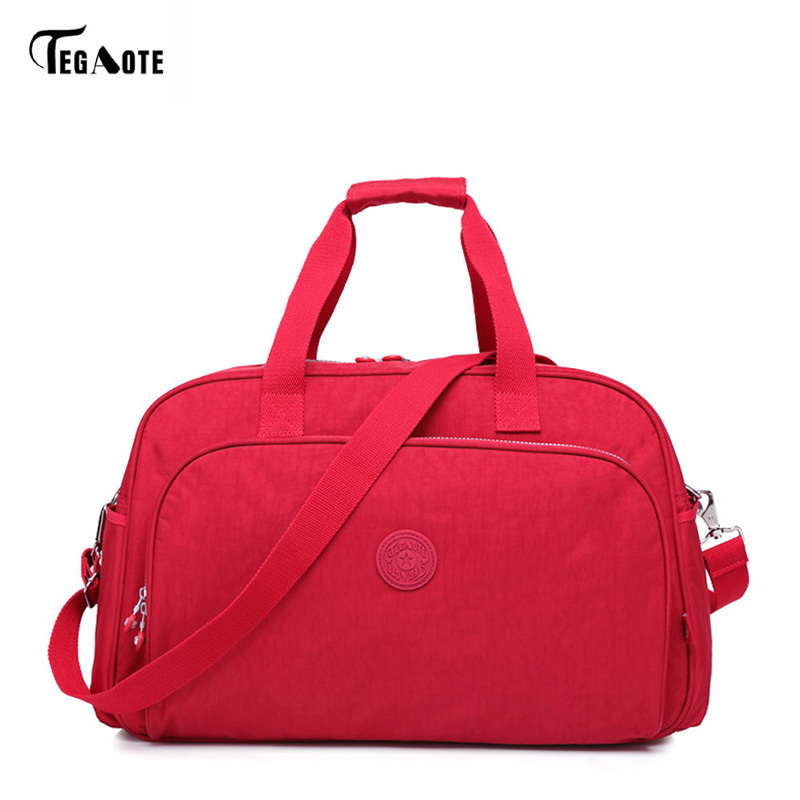 TEGAOTE Fashion Women Travel Bag Large Capacity Luggage Duffle Bag Waterproof Portable Travel Tote Bags Women Handbags Bolsas tegaote men travel bag zipper luggage travel duffle bag latest style large capacity male female portable waterproof travel tote