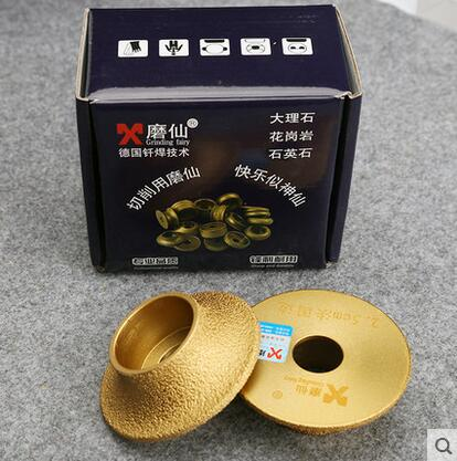 Welding diamond portable grinder with stone grinding wheel the French side round edge milling cutter grinding diamond pencil grinding wheel for 3 12mm glass round edge straight edge processing with fixing hole m001b