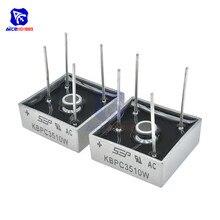 5 шт./лот мостовой выпрямитель диод SIP-4 KBPC3510W 35A 1000 В однофазный силиконовый мостовой выпрямитель оригинальная интегральная схема