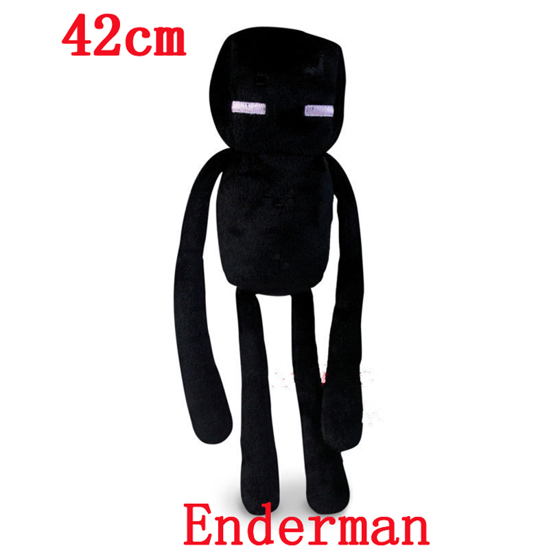 Big Size Minecraft Enderman Creeper Ocelot Skeleton Plush Toys Even Cooly Creeper JJ Stuffed Toys Doll