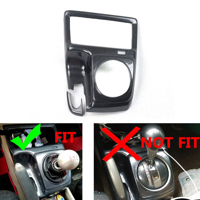 Car Carbon Fiber Color ABS Interior Mouldings Inner Gear Shift Covers Panel Trim Decal For Honda Civic 2006-2011 MT Car Styling