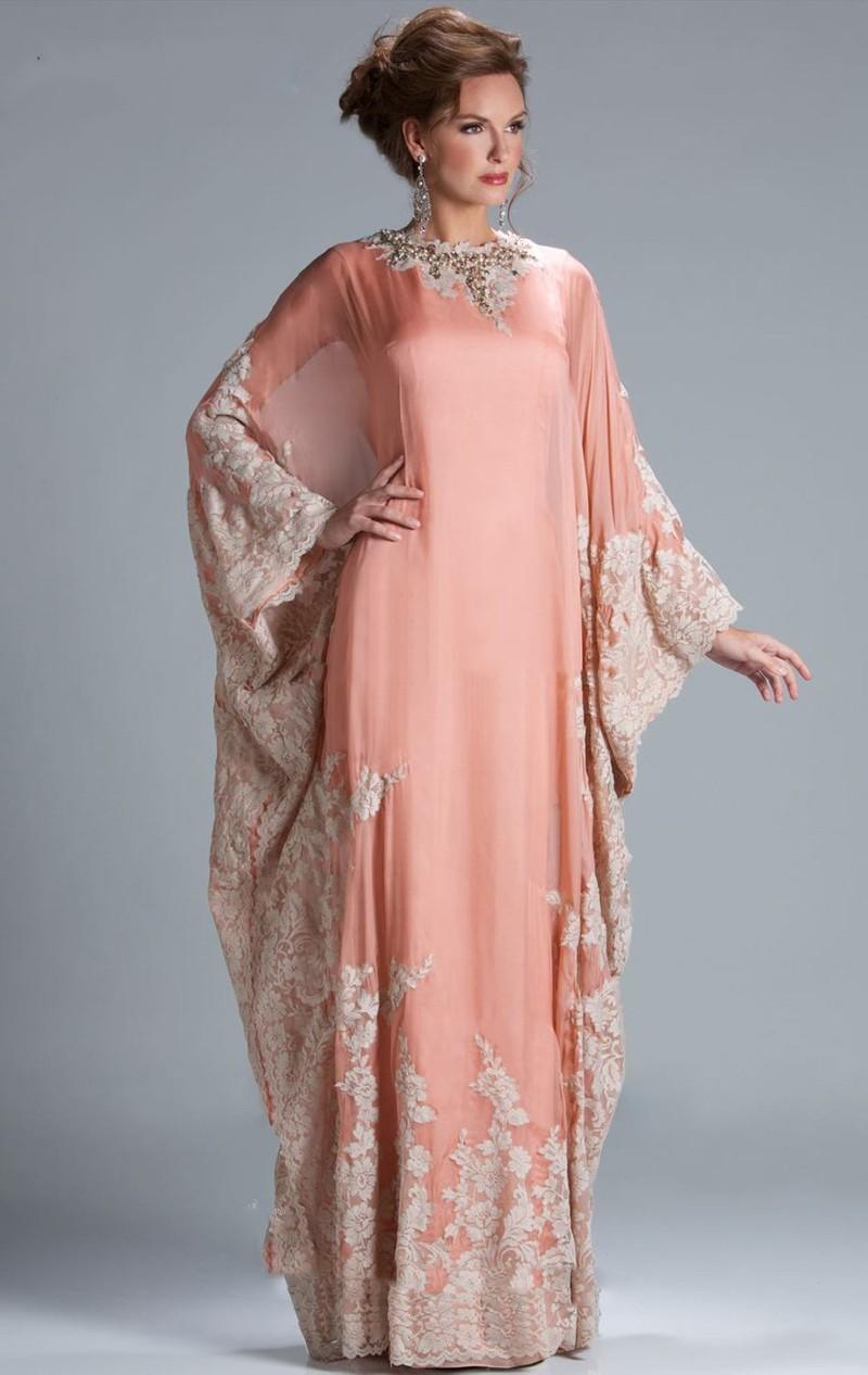 Hot Sale Long Sleeves muslim prom Dress Vintage vestidos de fiesta ...