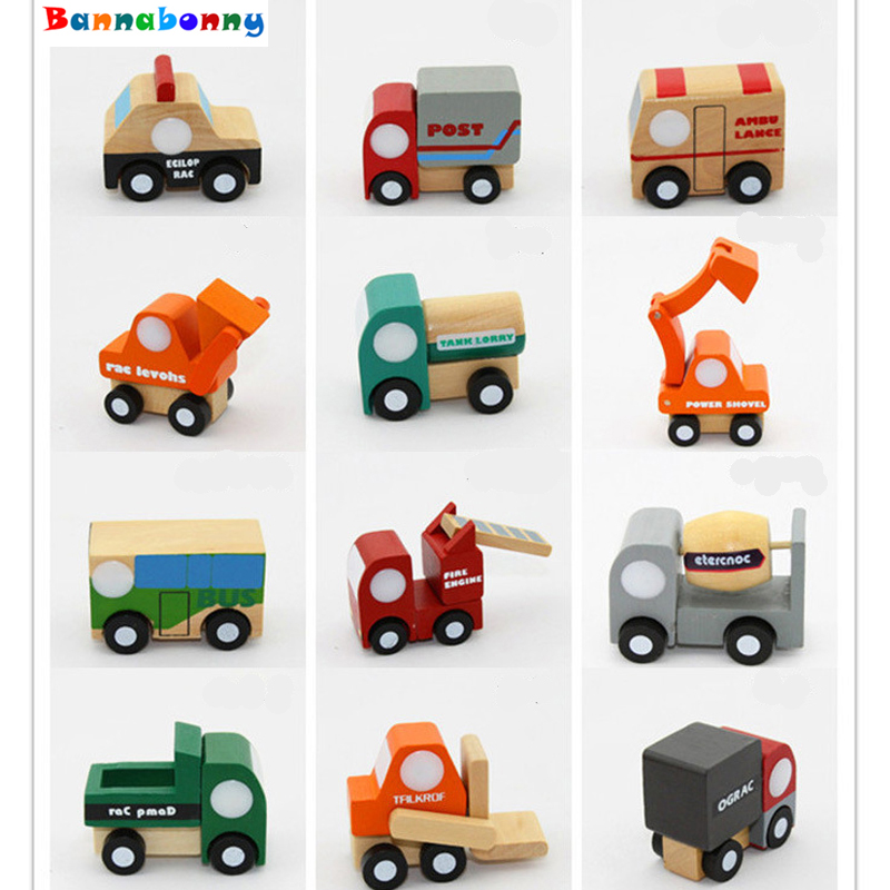 12pcs/set Mini wooden car/airplane Educational Soft ...