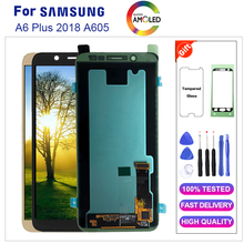 Super Amoled for Samsung A6 Plus LCD Display Touch Screen Digitizer Assembly A6  LCD for A6 PLUS A605 Original LCD Screen