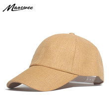 Get Summer Paper Straw Hats Curved Snapback for Women Baseball Cap Khaki Black Beige Ivory Dad hat for Men Breathable and Cool Cap deal