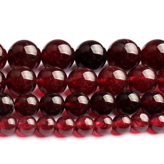 Natural Stone A+ Garnet Red Chalcedony Round Loose Beads for Jewelry Making 6 8 10 12mm 15'' Diy Bracelet Necklace Accessories 1
