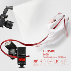Godox Mini Thinklite TTL TT350S Camera Flash High Speed 1/8000s GN36 For Sony Digital Camera with SoftBox+Color Filter Kit