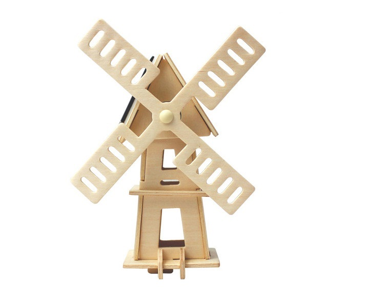Fun Mini Classic Toys Windmill model with Solar toys for children kids gift present birthday indoor