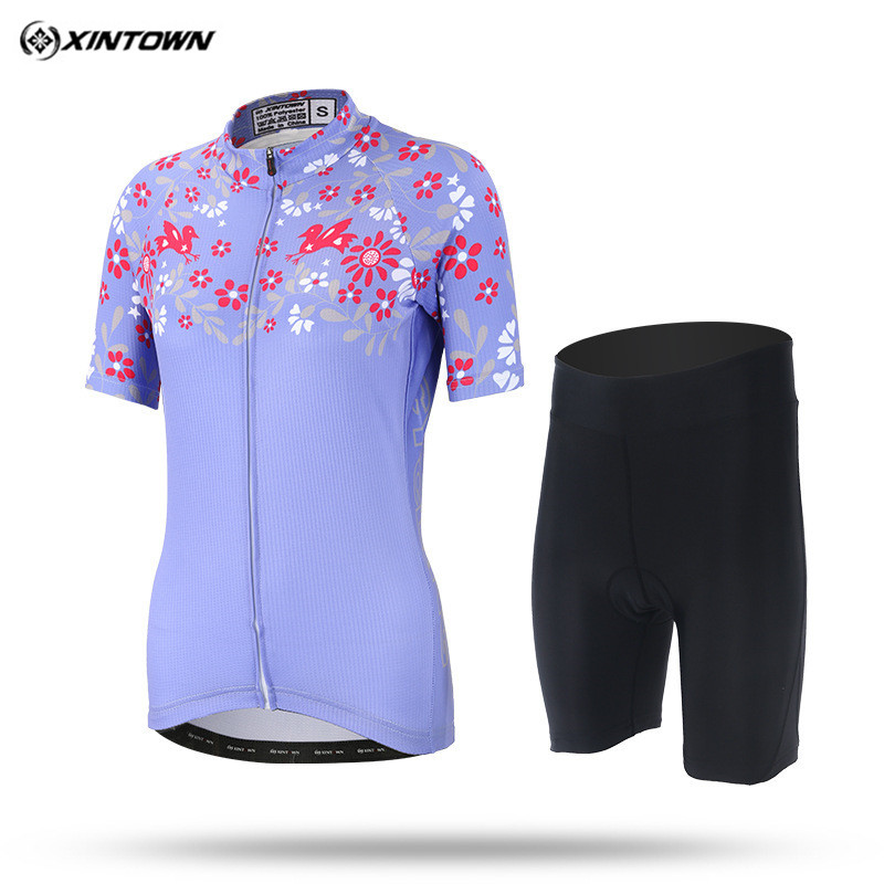 Xintown 2018 New Women Cycling Jersey Sets Summer mtb Bike Cycling Clothing Breathable Bicycle Clothes Ropa Ciclismo Bike Jersey xintown women summer cycling wear short sleeve suit bike bicycle cycling clothing mtb shorts women s team cycling jersey sets