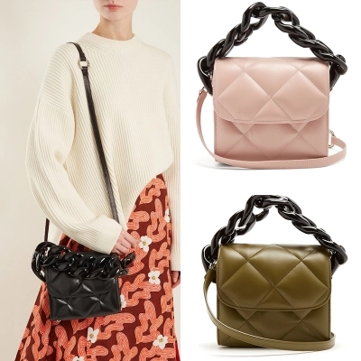 Resin Chains Crocodile Pattern Handbag Adjustable Strap Totes Acrylic Ring handle Accessories Alligator Crossbody Shoulder Bag crocodile pattern cube shaped crossbody bag