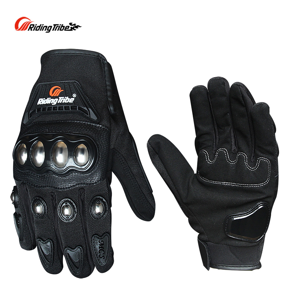 Riding Tribe Motocycle Protective Gears Gloves Touch Screen Non-slip Moto Bike Skiing Gloves Black Red Blue Color MCS-29B