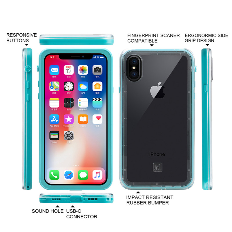 for iPhone X waterproof case (5)