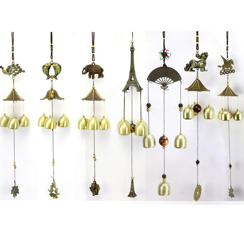 Retro Metal Feng Shui Wind Chime Hanging Bells Gift for Friends Kids Family