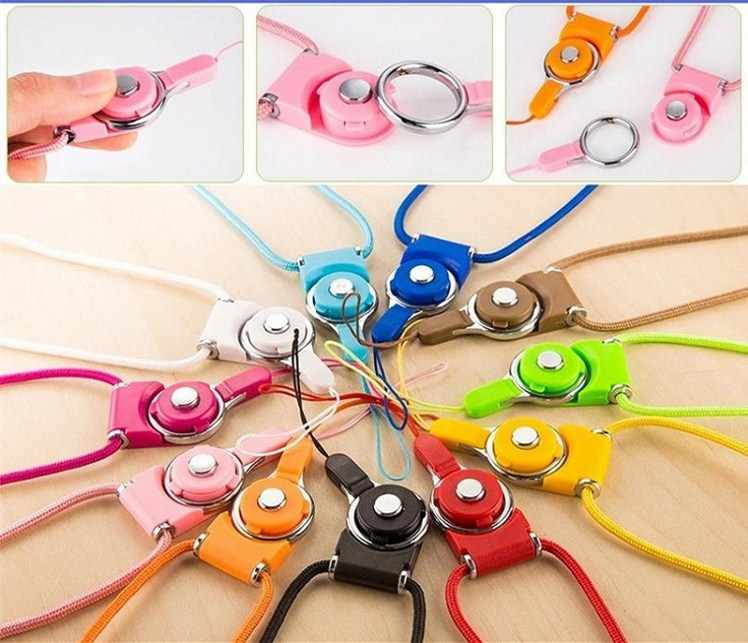 10 Colors Mobile Phone Lanyard Straps Neck + Cellphone Strap Bag Wallet Pendant ID Card Passcard holderKeys Clasp Running Holder