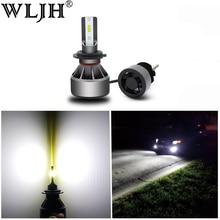 WLJH 2x High Power 60W 6000LM H7 Led H11 H4 Led Light Hi Low Beam Car