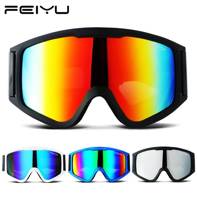 580da2333ba 2018 FEIYU Winter Snowboard Ski Goggles Mask Anti Fog Dual Lens Large Frame  Snowmobile Skiing Glasses