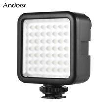 Andoer W49 приглушаемая видеокамера Видео Освещение мини Блокировка Камера Светодиодная панель для Canon Nikon Sony A7 DSLR