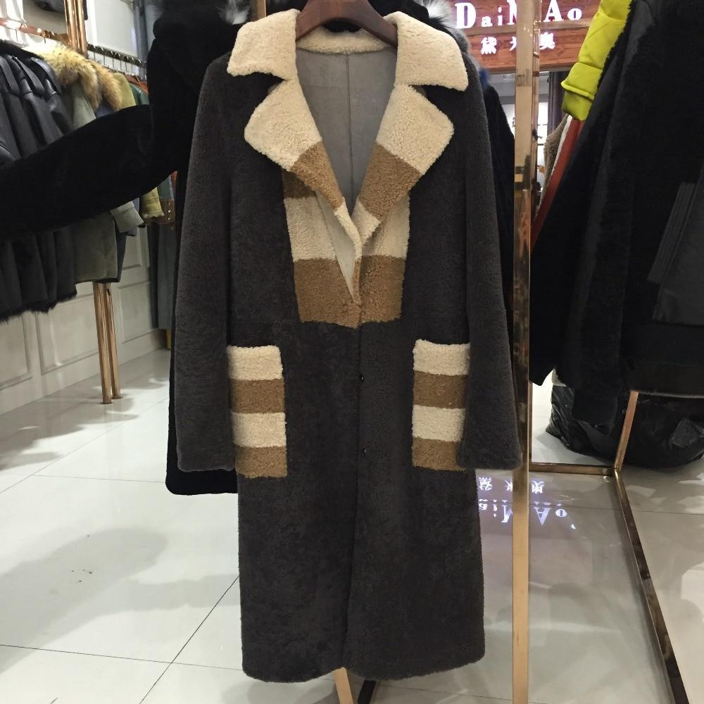 Cuir Fourrure Multi Femmes En Sqxr Lady Qualité Haute Manteau Veste Fur Peau De Mouton wOx7IqCxn