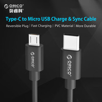 ORICO MCU Type-C to Micro USB Data Charging Cable 20/50/100/150/200 CM - Black