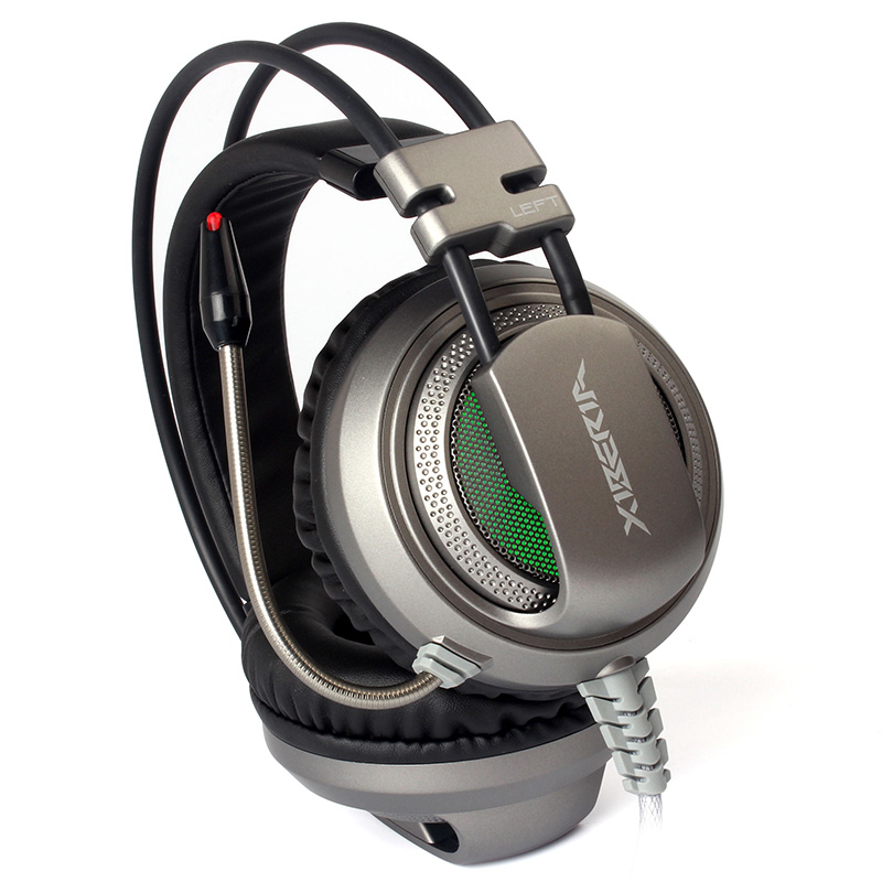 XIBERIA V10 Gaming Headphones With Microphone Headset 3.5mm+USB LED Light Stereo Sound Over Ear Headsets For Laptop PC Gamer original nubwo n2 n2u gaming headphones led over ear stereo deep bass noise canceling game headsets with microphone for pc gamer